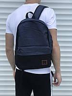 Мужской качественный рюкзак Reebok прочный в синем цвете, ТОП-реплика
