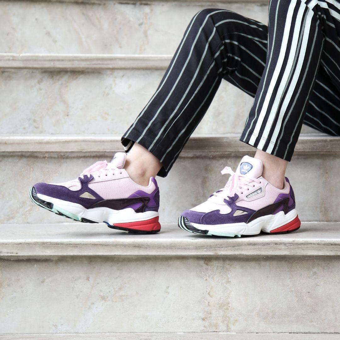 the best attitude shades of popular brand Женские кроссовки Adidas Falcon Pink Purple BD7825, Адидас Фалкон - Bigl.ua