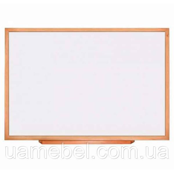 Школьная доска маркерная в деревянном профиле КЛАССИК, 150х100 см