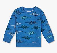 Синий свитшот на байке с принтом динозавров для мальчика, C&A, 2061130