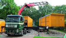 Перевозка строительных вагончиков в Киеве
