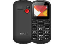 Телефон кнопочный для пожилых людей на 2 сим карты с фонариком Nomi i187 чёрный