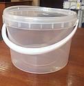 Ведро пластиковое контейнер на 3л, фото 2