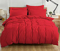 Комплект постільної білизни двоспальный SVDONDY Донна Race YC2-012 червоного кольору