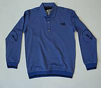Стильная трикотажная  рубашка -поло для мальчика на рост 134-152, фото 1