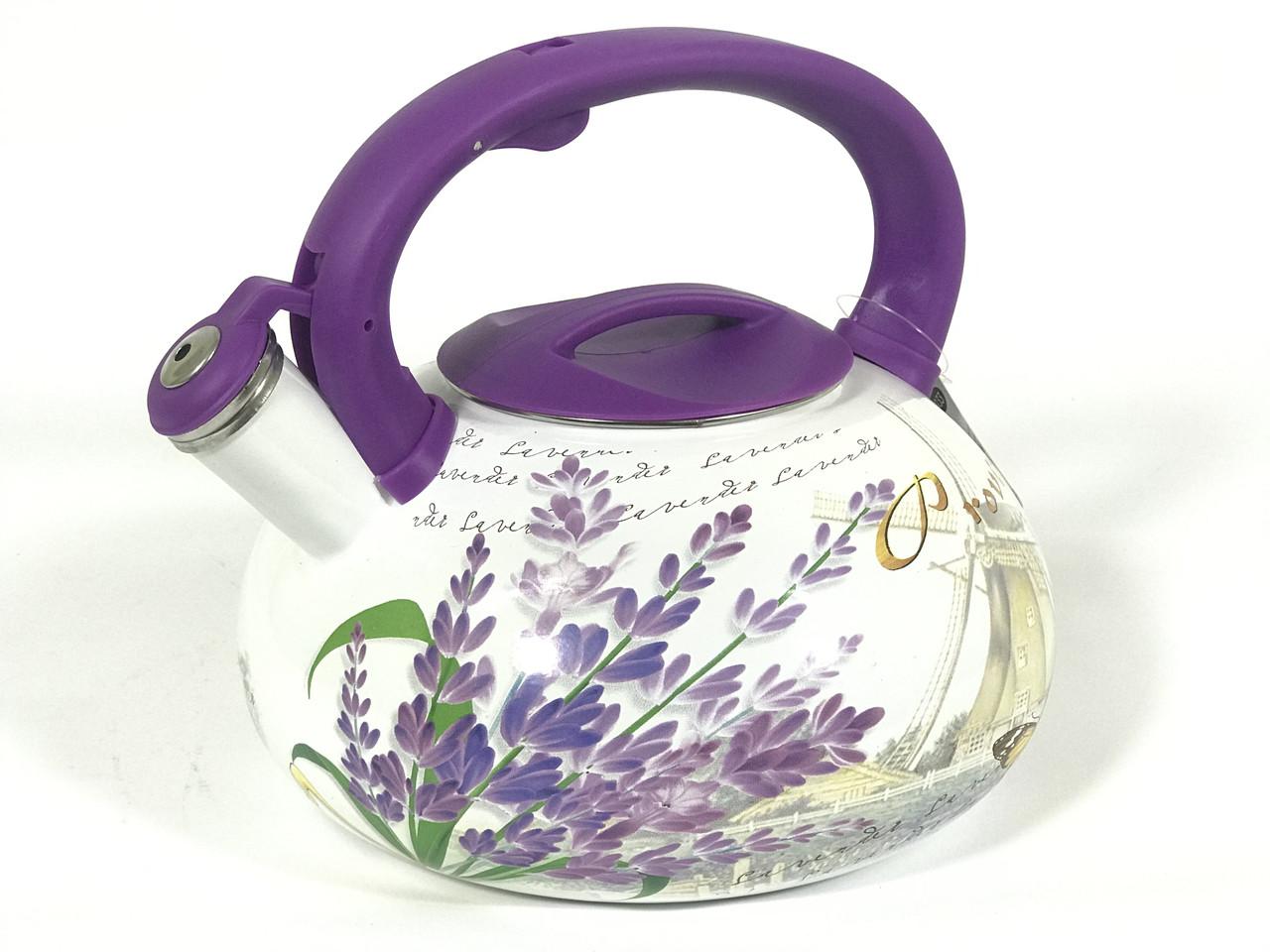 Эмалированный чайник со свистком Hoffner 4933 Provense 3,3 литра