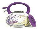 Эмалированный чайник со свистком Hoffner 4933 Provense 3,3 литра, фото 4