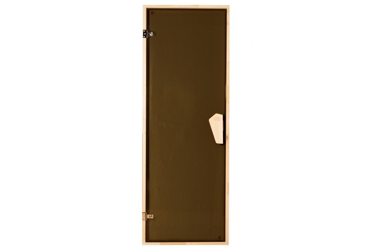 Дверь для сауны и бани Tesli  190*80 (тон бронза)