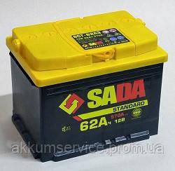 Аккумулятор автомобильный SADA Standart 62AH R+ 570A