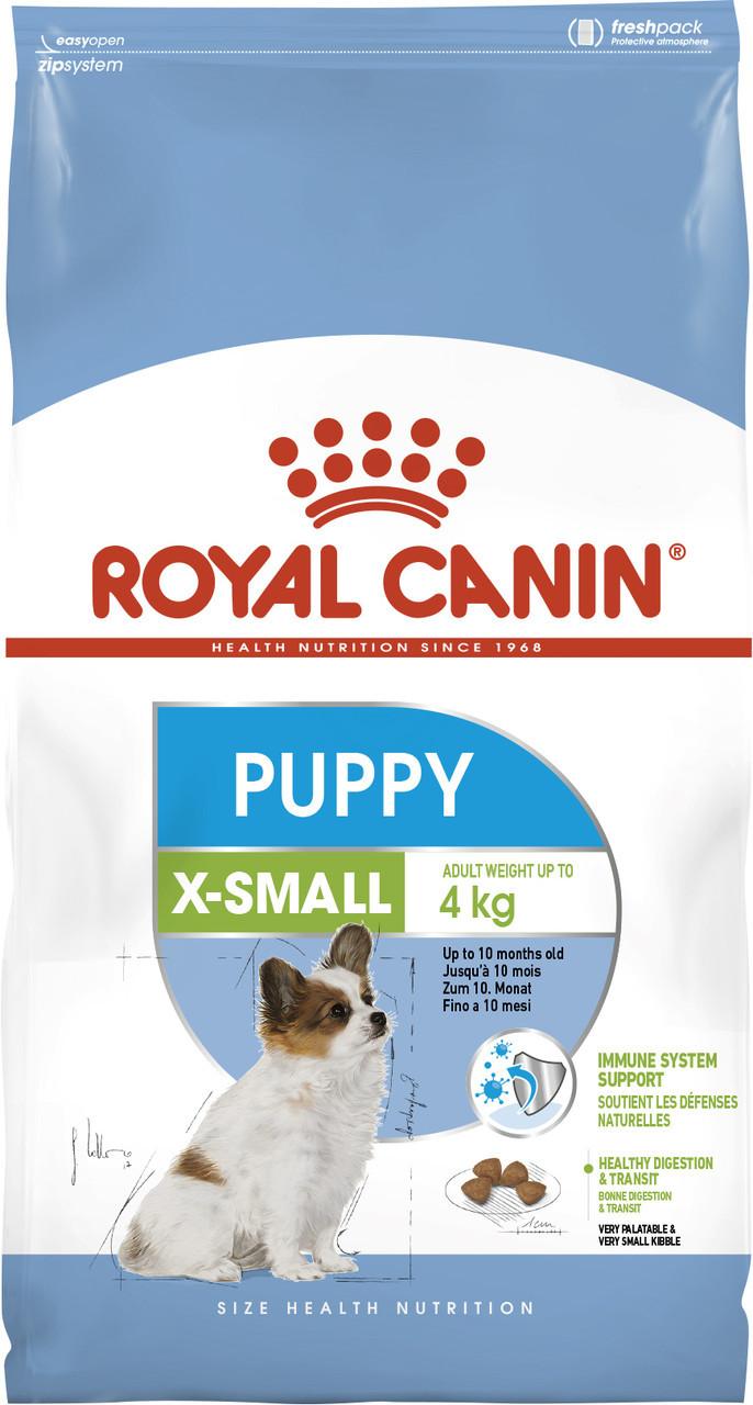 Сухой корм для щенков миниатюрных пород Royal Canin X-Small Puppy 3 кг