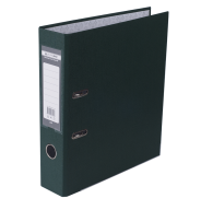 Папка-регистратор Buromax Jobmax Lux А4 70 мм PVC тёмно-зелёная
