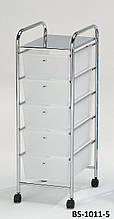 Система хранения, тележка с ящиками BS-1011-5 WT Onder Metall