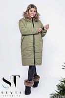 Зимнее женское  пальто на меху, фото 1