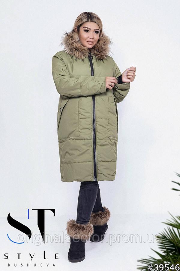 Зимнее женское  пальто на меху