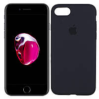 Оригинальный силиконовый чехол для iPhone 7/8, Темно-Синий