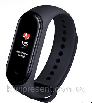Фитнес браслет M4 трекер копия Xiaomi Mi Smart Band 4 черный, цветной экран