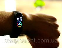 Фитнес браслет M4 трекер копия Xiaomi Mi Smart Band 4 черный, цветной экран, фото 3