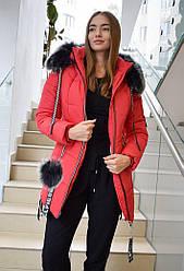 Куртка женская Dinasti М153 красный 50