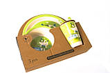 Набір дитячої бамбуковій посуду Eco Bamboo 5 предметів MH-2772 зелений, фото 2