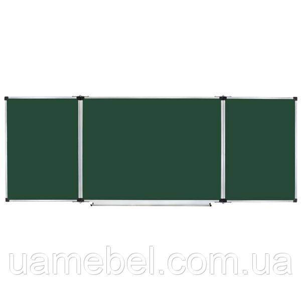 Школьная доска магнитная меловая металлокерамическая, 300х100 cм, фото 1
