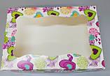 Картонна Коробка для капкейків з прозорою кришкою 250*170*80, фото 2