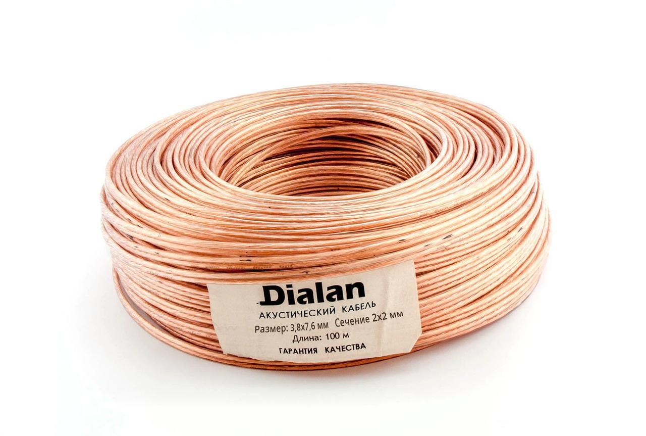 Акустический кабель Dialan CCA 2x2.00 мм ПВХ 100 м