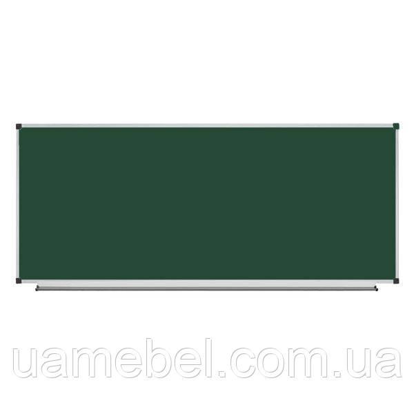 Школьная доска магнитная меловая металлокерамическая, 300х100 см, фото 1