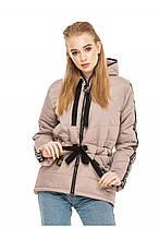 Демисезонная женская куртка-парка Залина латте (44-54)