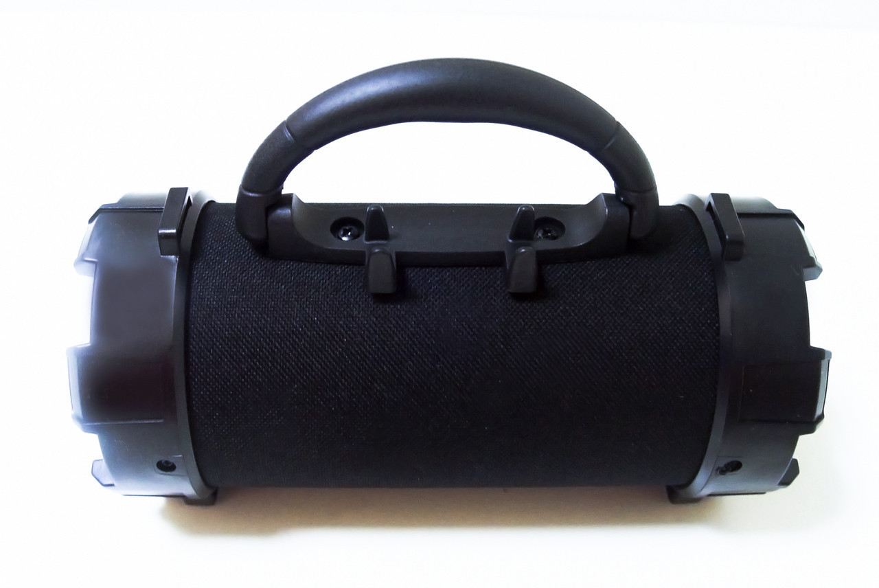 Портативна bluetooth колонка SPS F18 5W Super Bass з ліхтариком, чорна