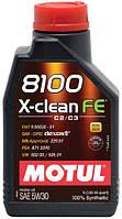 Моторне масло MOTUL 8100 X-clean FE 5W-30 1л, фото 1
