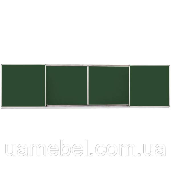 Раздвижная доска меловая/маркерная/комбинированная, 400х100 см