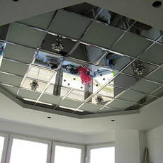 Устройство зеркальных и стеклянных потолков