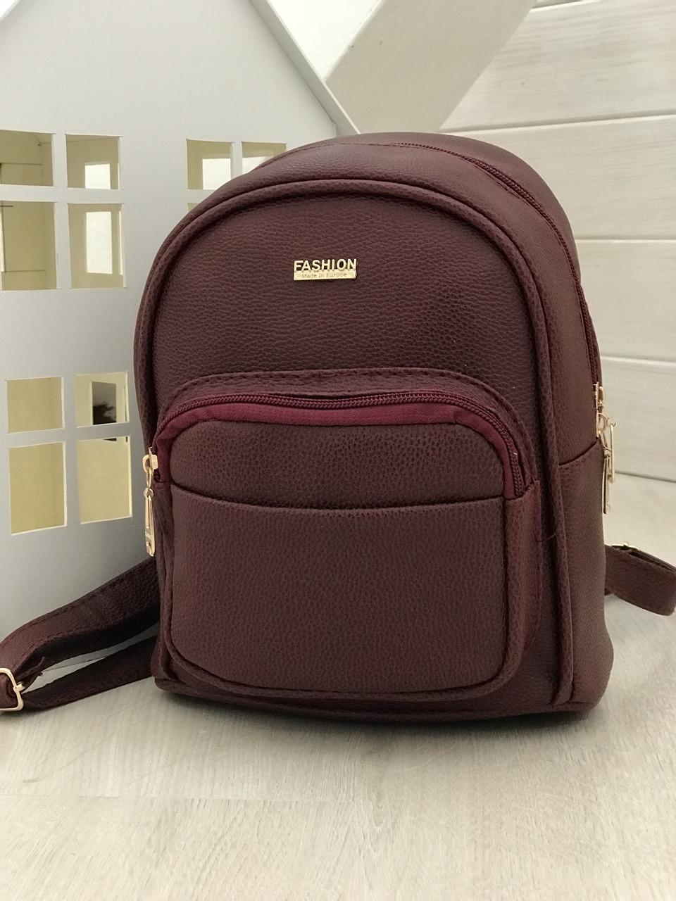 Женский рюкзак R-113-4, бордовый