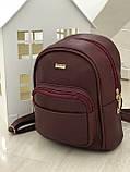 Женский рюкзак R-113-4, бордовый, фото 2