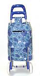 Тачка сумка с колесиками кравчучка 96см MH-1900 синие цветы, фото 2