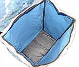 Тачка сумка с колесиками кравчучка 96см MH-1900 синие цветы, фото 4