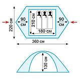Палатка трехместная Tramp Nishe 3 v2 TRT-054, фото 3