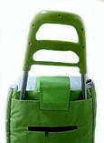 Тачка сумка с колесиками кравчучка металл 94см MH-2079 зеленая, фото 4