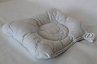 Подушка ортопедическая для младенцев QSLEEP, хлопок+шерсть, 23*20см, форма бабочка