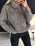Женский  теплый вязаный свитер-хомут под горло объемного фасона (в расцветках), фото 5