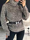 Женский  теплый вязаный свитер-хомут под горло объемного фасона (в расцветках), фото 7