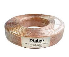 Акустичний кабель Dialan Cu 2x0.75 мм ПВХ 100 м(мідь)