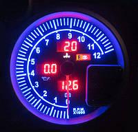 Прибор указатель тахометр + температуры воды + давления масла + вольтметр стрелочный 7787-1 LED с отсечкой Ø120мм прибор датчик автомобильный