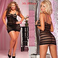 Эротическое платье из крупной сетки, Пеньюары из сетки. Размер 42, фото 1