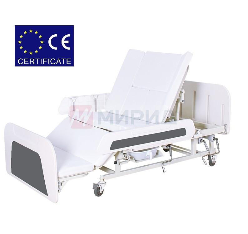 Медицинская функциональная кровать с туалетом Е55 для реабилитации Mirid