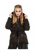 Стильная демисезонная куртка-парка Залина черный (44-54)