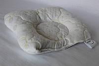 Подушка ортопедическая для младенцев QSLEEP, жаккард+шерсть, 23*20см, форма бабочка