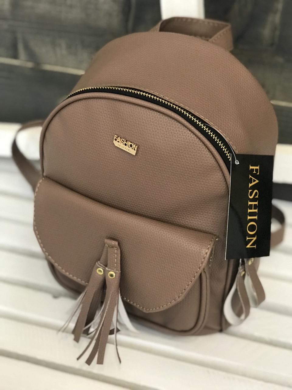 Жіночий рюкзак R-121-29, пудровий