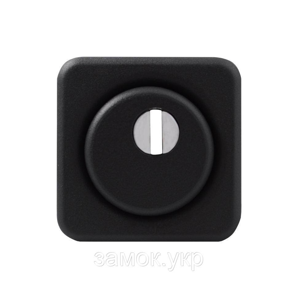 Броненакладка Protect 18mm c кольцом квадратная без ответной части BLACK черный