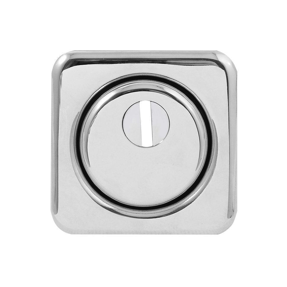 Броненакладка Protect 18mm c кольцом квадратная без ответной части CP хром